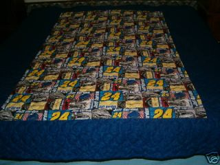 NEW HOME QUILTED FULL BLANKET JEFF GORDON NASCAR RACING SPORT CARS
