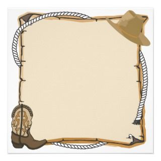Country Western Party Invite (blank)