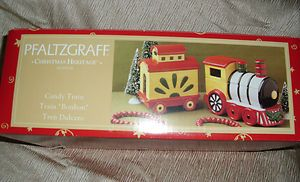 CHRISTMAS HERITAGE CANDY TRAIN DISH 4 PIECE SET TOYS PASSENGER CAR