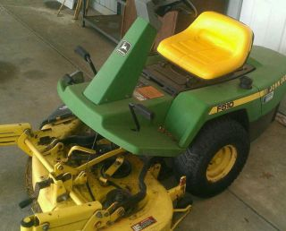 1990 john deere f510 lawn tractor 38 deck with bagger and extra blades