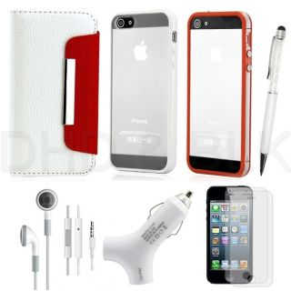 in 1 White Red Holiday Accessories Bundle Travel Case Cover Combo