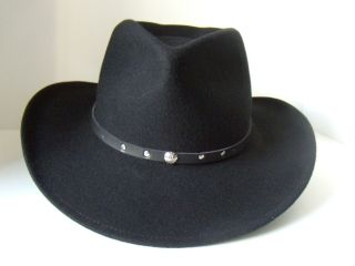 NEW ARRIVAL BLACK CREEK OUTBACK WESTERN STYLE HAT COLOR BLACK 7 3 8