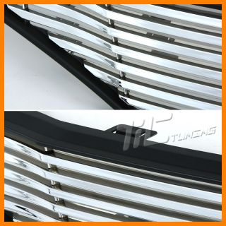 2009 2010 HONDA FIT ALL CHROME BLACK ABS BILLET STYLE FRONT UPPER
