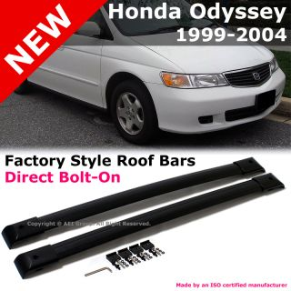 Honda Odyssey 99 04 Factory Style Black Roof Rack Cross Bar Set