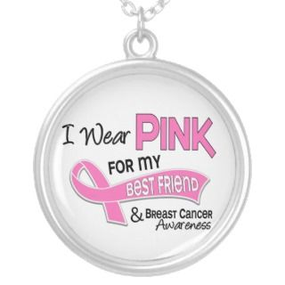 Wear Pink For My Best Friend 42 Breast Cancer Custom Necklace