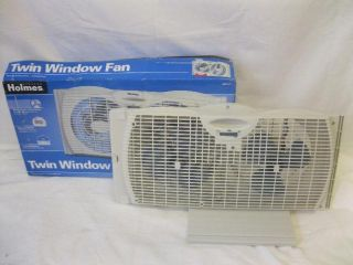 Holmes 7 Twin Window Fan HAWF2021 U Twin 7 inch Blades Air Circulation