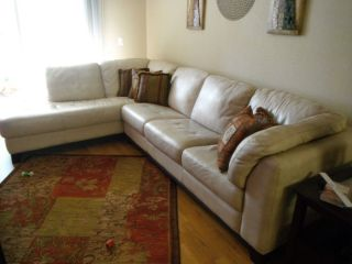 Beautiful Havertys Embrace Leather Sectional Sofa Excellent Condition