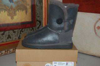 UGG Australia Bailey Button Bomber Gray US Sizes 5 10 Womens Boots