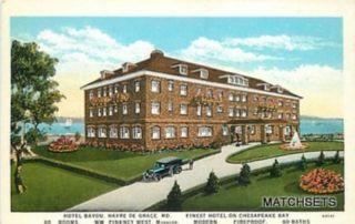 HAVRE DE GRACE, MARYLAND Finest Chesapeake Bay Hotel Bayou CURT TEICH