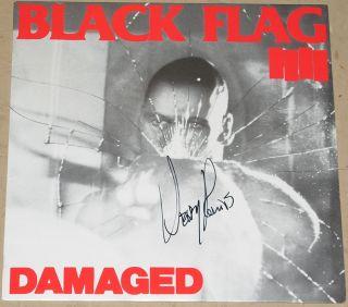 BLACK FLAG HENRY ROLLINS AUTOGRAPHED SIGNED VINYL ALBUM WITH JSA COA
