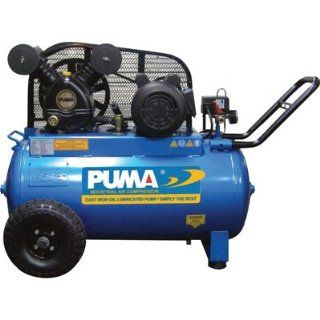 Puma Oil Lube Belt Drive Single Stage Portable Air Compressors   2 HP
