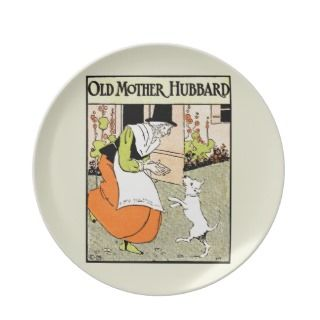 Old Mother Hubbard Dinner Plate