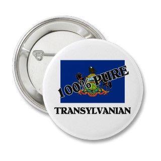100 Percent Transylvanian Pin