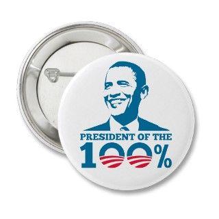Obama 2012   100%   Romney 47 Percent 47% Button