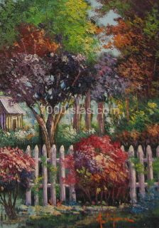 Tagaytay Garden 18x24 Philippine Pinoy Folk Art Oil Painting Laguna