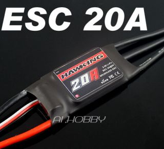 New RC Hobbies Hawking ESC 20A Brushless Motor Speed Controller HK 20