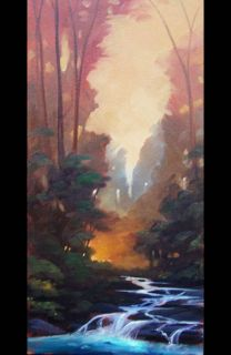Hawkins Impressionist Art Painting Original tonalist Listed