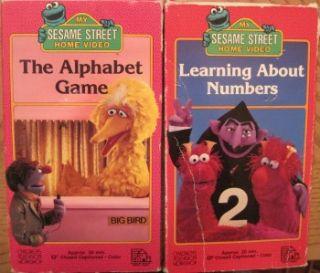 Huge Lot 18 VHS Videos Sesame Street Elmos World Big Bird Christmas