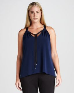 Emille V Neck Drawstring Blouse, Womens