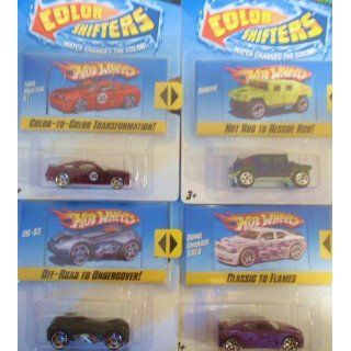 Hot Wheels Color Shifters Set of 4 Cars (RD 03, Ford