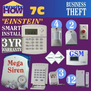 Home House Security Alarm System Deluxe Fire & Burglary Wireless GSM