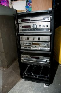 Technics Home Stereo System with cabinet and 2 tower speakers