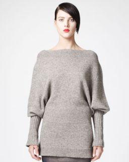 Vince Chunky Boat Neck Sweater, Crimson