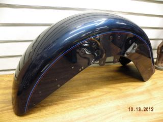 Front Fender Harley Heritage Softail 2004 Royal Blue Chipped Nice