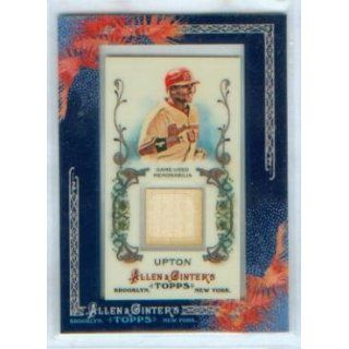 Justin Upton 2011 Topps Baseball Allen & Ginters Game