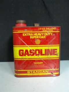 Pre Ban Vented Easy Pour 1 5 Gallon Metal Gas Can Stancan Gasoline Can