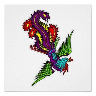 Bird Of Paradise Tattoo Poster