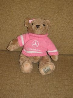 13 Herrington Bears Mercedes Benz Teddy Bear Pink Sweater Stuffed