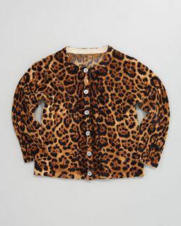 Cashmere Leopard Print Cardigan