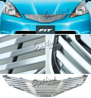 09 10 Honda Fit Chrome Luxury Front Grille Grill Billet Replacement
