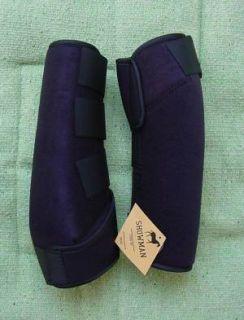 Sport Medicine SMB Horse Boots Black Medium Size Horse Tack