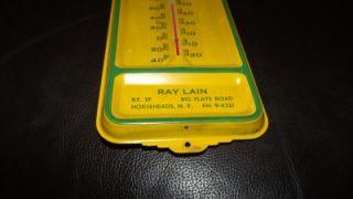 Rare Vintage 4 Legged John Deere Steel Thermometer Sign Horseheads NY