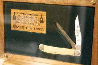 Commemorative Grand Ole Opry Knife Made from Original Stage Flooring