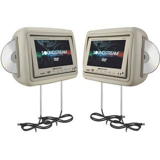 9BG Dual 8 8 LCD Touch Widescreen Headrest DVD Players as Is