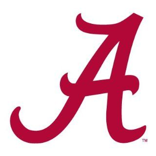 ALABAMA CRIMSON TIDE SCRIPT A clear vinyl decal car truck