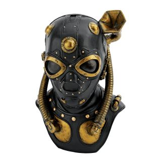 Steampunk Industrial Straps Valves Hoses Gas Mask Statue
