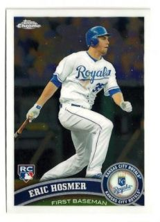 E83 2X 2011 Topps Chrome Eric Hosmer RC Lot Kansas City Royals