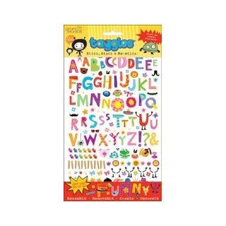 Grant Studios Taggles Large Sticker Sheet Alphabet Designs