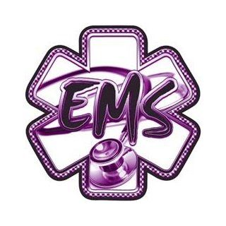 Purple EMS Stethoscope Star of Life Decal   24 h
