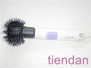 Conair Round Head Hot Air Curling Straighten Iron Brush with Ball Tips