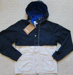 Tommy Hilfiger Navy Natural Fashion Coated Denim Jacket Mens $129