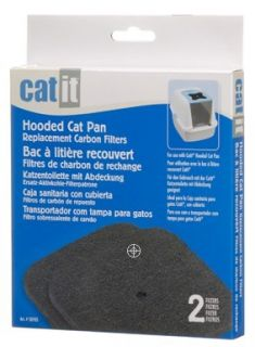 Carbon Filters for Covered Catit Pan Cat Litter Box Filter ~50705