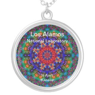 Los Alamos   Stained Glass Garden Beyond the Sun Custom Necklace