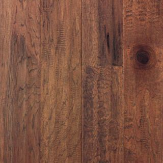 Hand Scraped Mink Hickory Hardwood Flooring Wood Floor