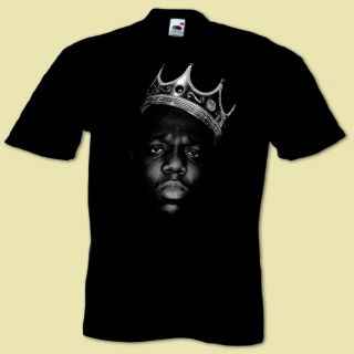 Mans Hip Hop Music T Shirt Inspired by King Notorious B I G Biggie