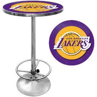 Los Angeles Lakers NBA Chrome Pub Table   Game Room